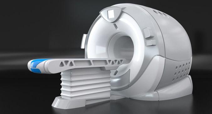 modern device of mri 3d model max obj mtl fbx c4d 1