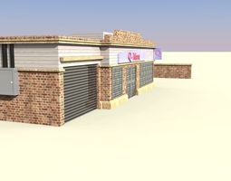 3D model low-poly store