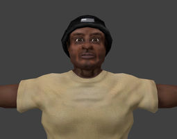 Human Black Man 3D model
