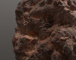 Low poly sci fi mars rock facade 3D asset