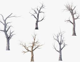 3D asset Low Poly Dead Tree Pack