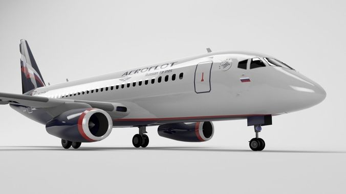 superjet-100 - element 3d 3d model max obj mtl 3ds fbx c4d lwo lw lws 1