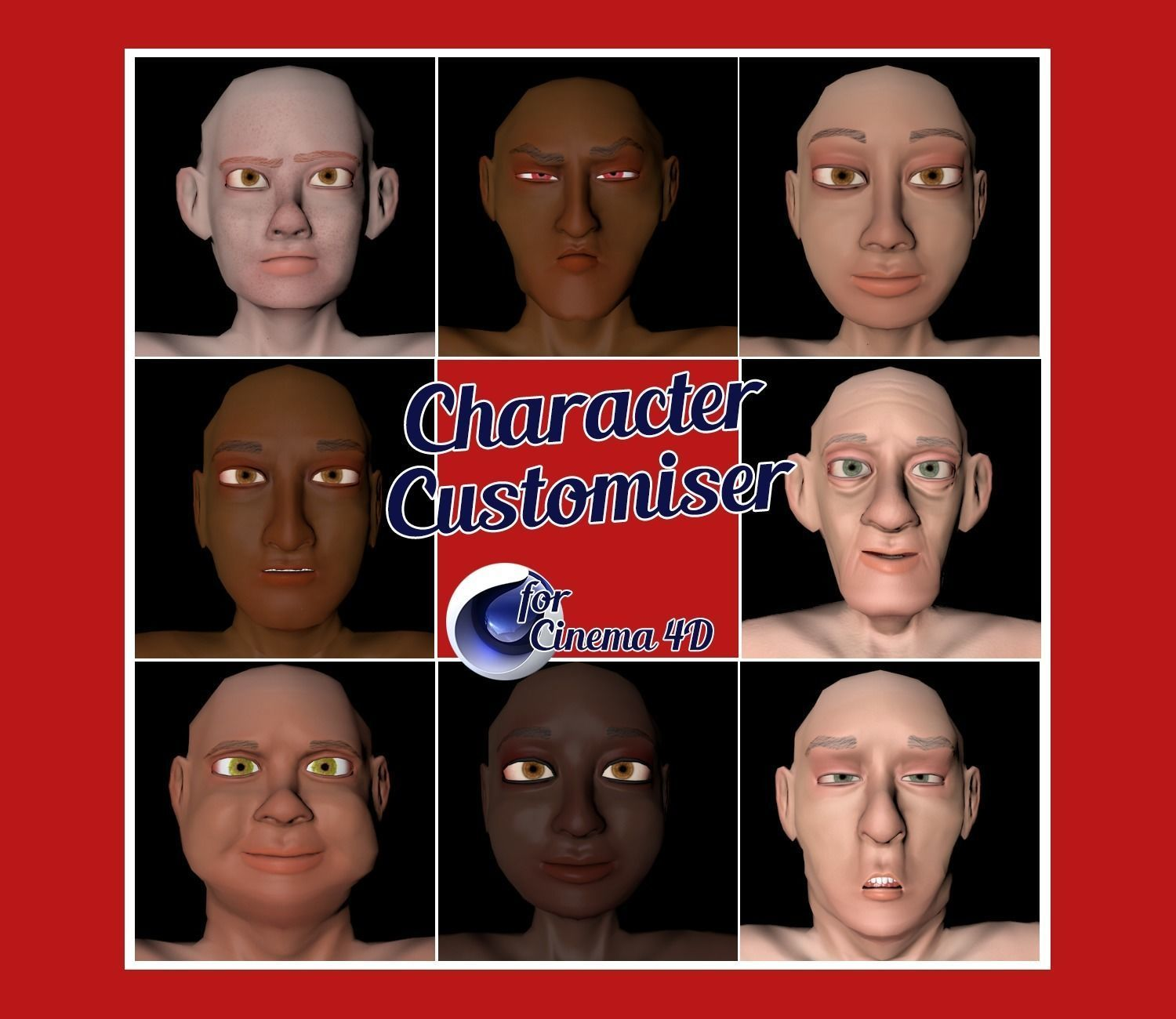 Low Poly Character Customiser for Cinema 4D | 3D model