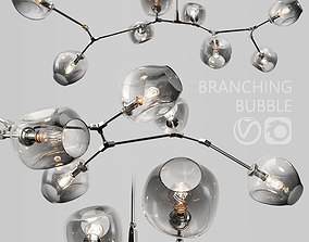 Branching bubble 8 lamps by Lindsey Adelman DARK SILVER 3D