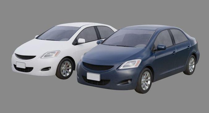 generic car 1b 3d model low-poly obj mtl fbx blend 1