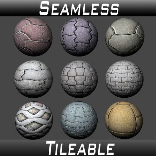 floor tiles texture pack 1 3d model  1