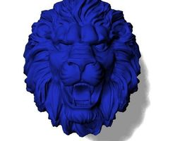 apparel Lions head Lions ring 3D printable model