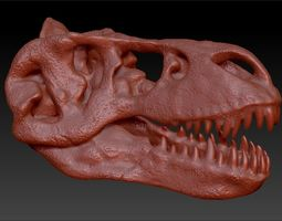 T-Rex Skull 3D print model
