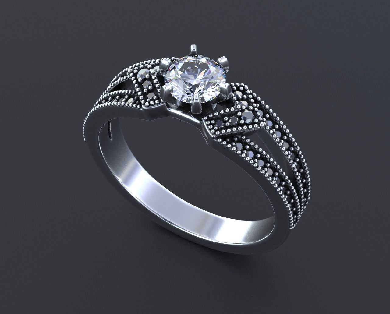ring stylish diamond preset ctw engagement p princess in gold rings angle cut white halo