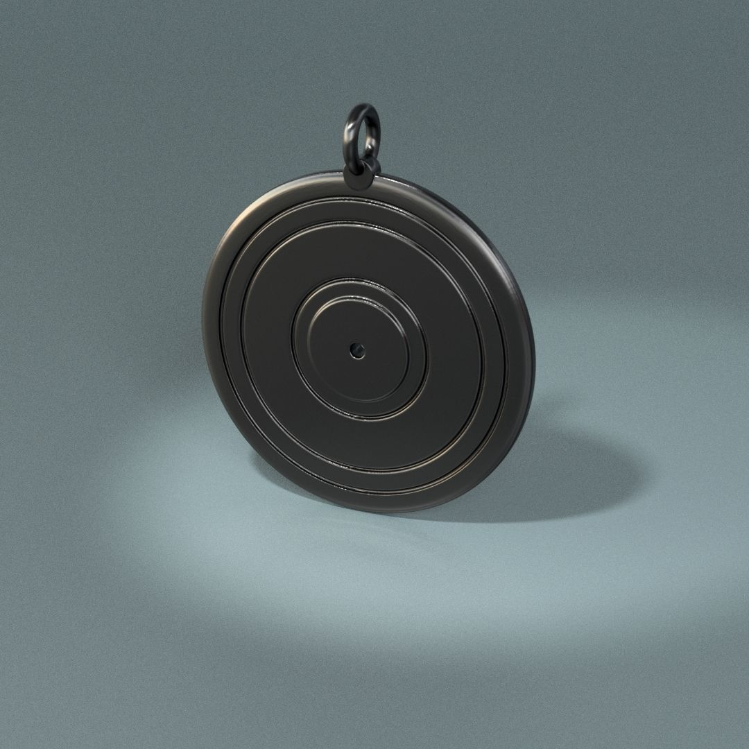 Vynil record pendant
