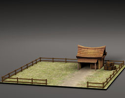 3D model Cartoon small house
