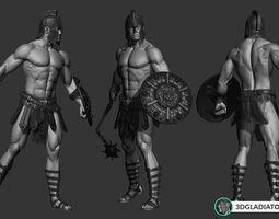 FREE 3D Gladiator Model - Part 1 Helmet