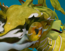 Leafy sea dragon rigged 3D