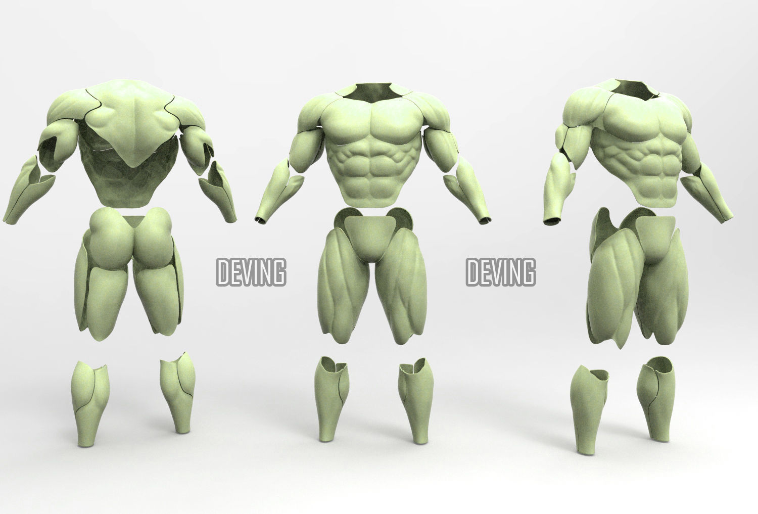 Batman muscle body for Muscle Suit Cosplay-v3