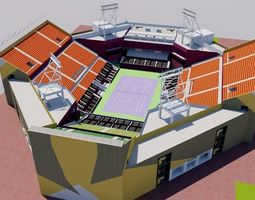 Khalifa International Tennis - Doha Qatar 3D asset