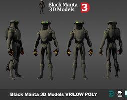 Black Manta 3D models low poly
