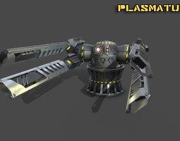Spaceship plasma turret 3D model