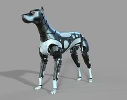 Robot Dog Doberman 3D model