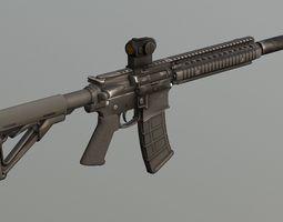 Colt M4 MK18 Tactical PBR 3D model