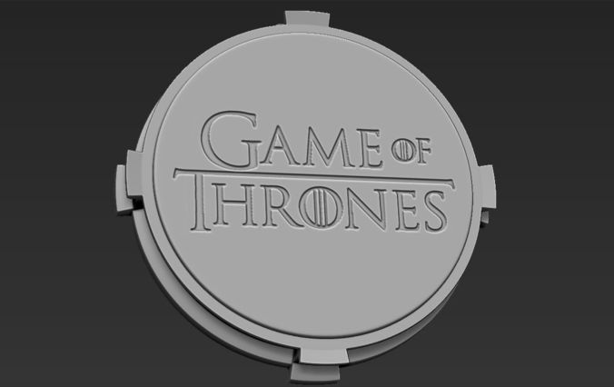 decorative game of thrones base stand for figurines 3d model obj mtl stl wrl wrz 1
