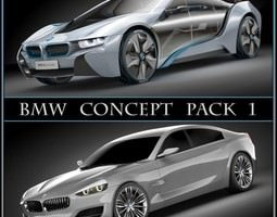 3d bmw concept pack 1 rigged