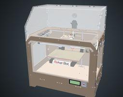 makerbot 3D printer animated