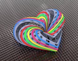triply heart knot loop 3d print model