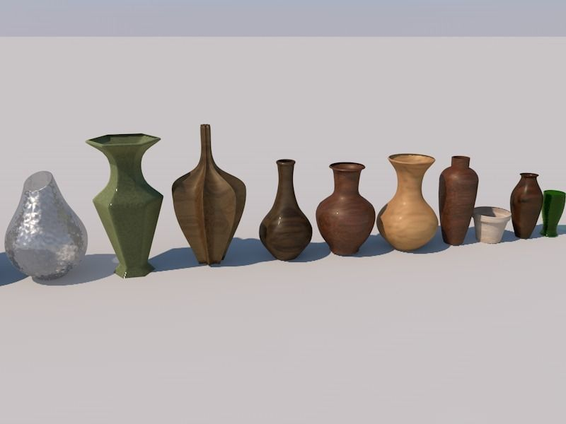 3d Vases Pots And Glass Collection Cgtrader