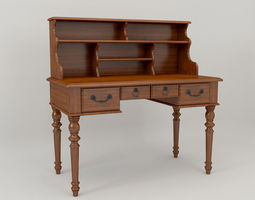 3D model American country desk