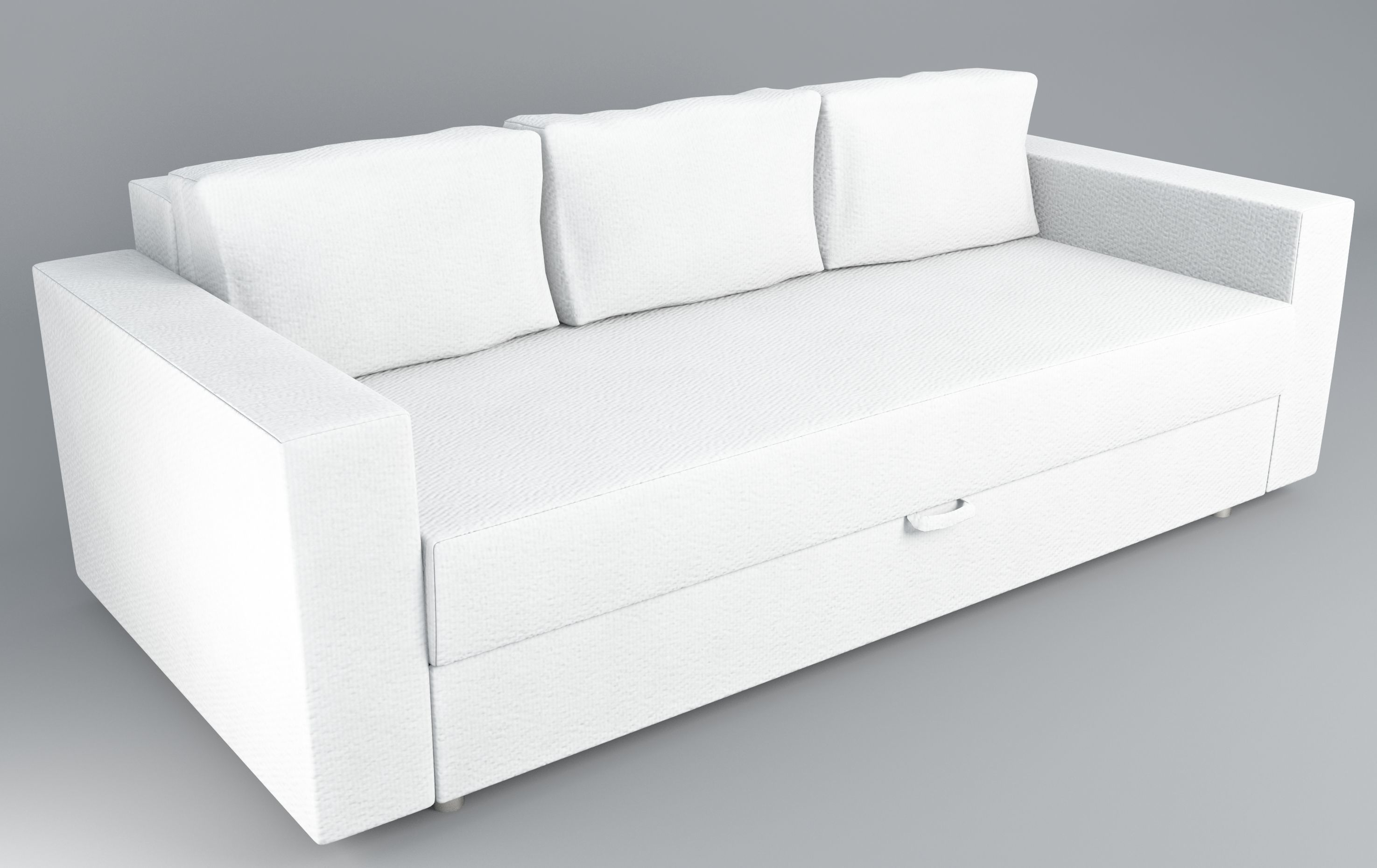 Superieur Sofa Bed IKEA Friheten Low Poly 3D Model
