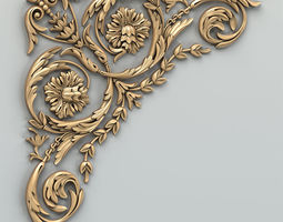 3D Carved decor corner 010