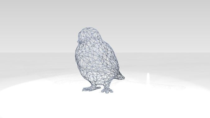 Swallow Wireframe | 3D model