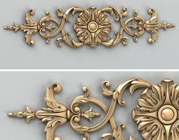 3d model carved decor horizontal 025
