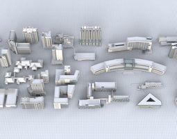 3D City Building Kitbash Collection Part 03