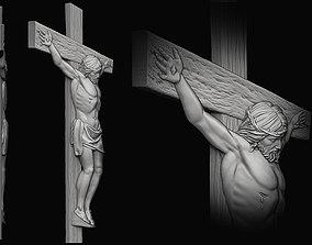 Jesus On The Cross Relief 3D print model