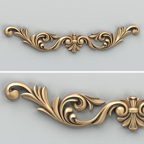 carved decor horizontal 026 3d model max obj fbx stl 1