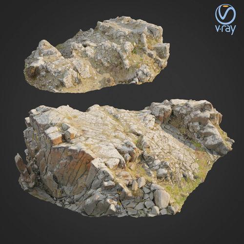 3d scanned rock cliff k2 3d model max obj mtl fbx 1