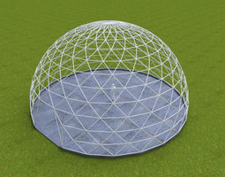 Dome - Triangulated with entry opening and 3D model