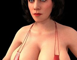 sexy woman 3D model rigged
