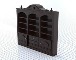 Bookcase 3D model low-poly