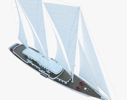 Sailboat yacht 3D model