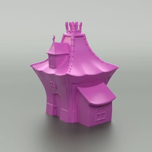 cartoon witch house 3d model obj mtl stl blend wrl wrz 1