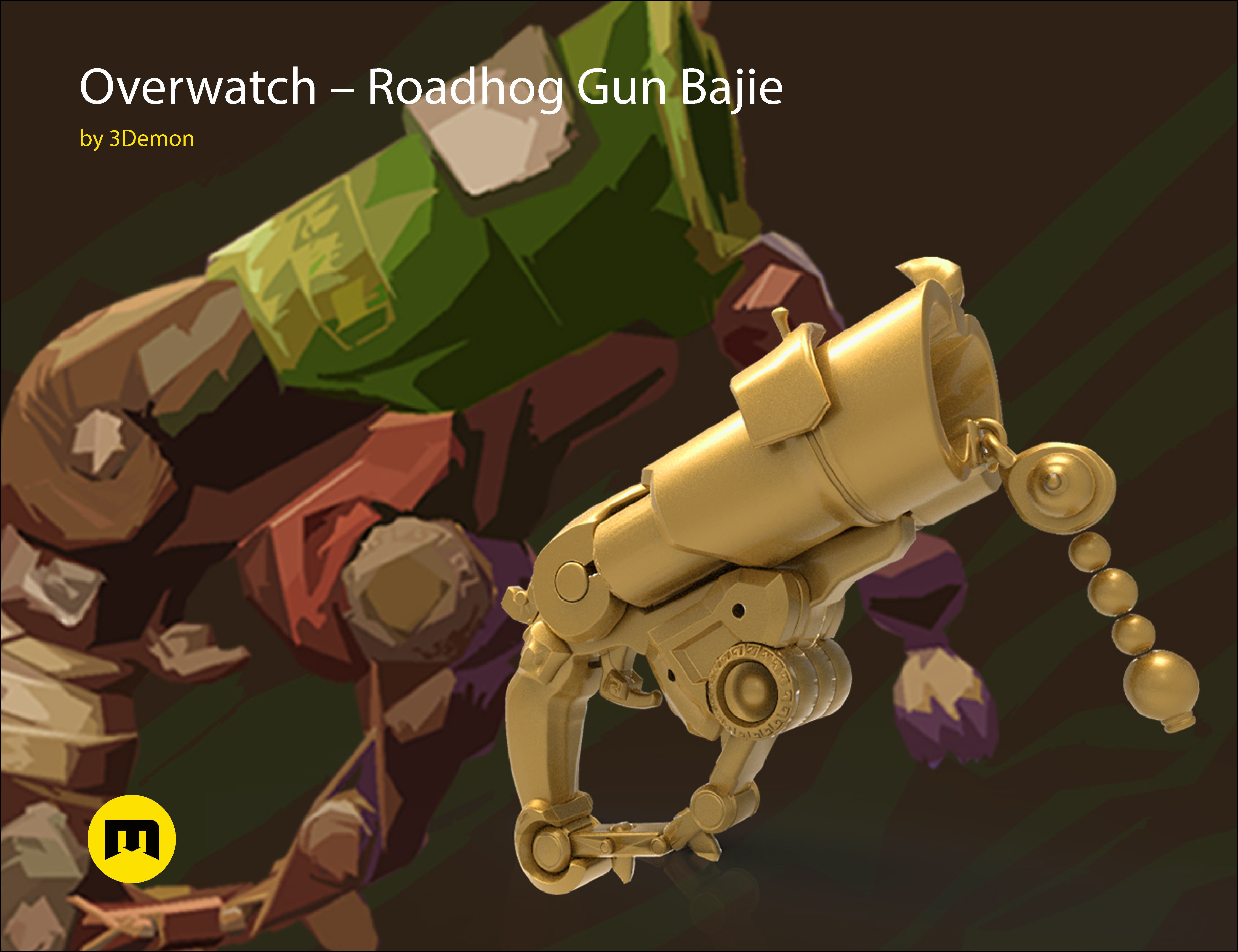 Overwatch Roadhog Gun Bajie
