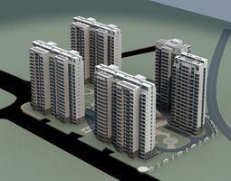 Architecture town 3D model