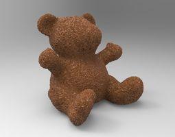 3D printable model bear toy