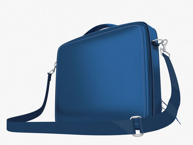 sport bag briefcase 3d model low-poly max obj mtl 1