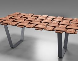 Checkmate Wooden Table 3D