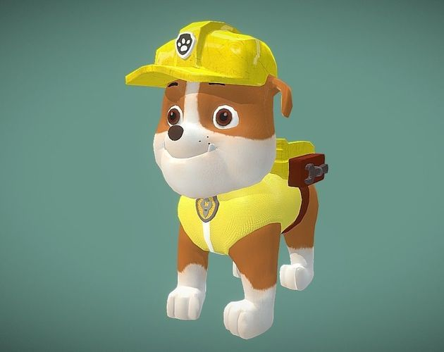 Rubble paw patrol 3D asset  8e0b856b46d2