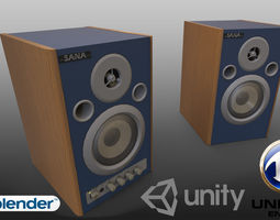 3D model Professional stereo speakers - Game Ready