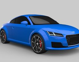 VR / AR ready Audi TT Game-Ready Model 10th